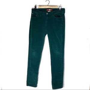 Lucky Brand Green Zoe Skinny Cords